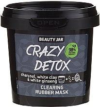 Parfémy, Parfumerie, kosmetika Maska na obličej s dřevěným uhlím, bílou hlínou a ženšenem - Beauty Jar Crazy Detox Clearing Rubber Mask