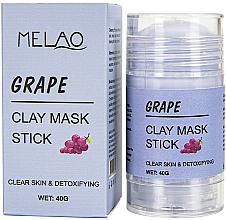 """Parfémy, Parfumerie, kosmetika Maska na obličej """"Grape"""" - Melao Grape Clay Mask Stick"""