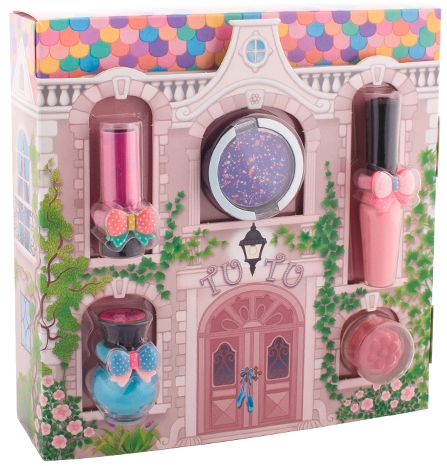 Kosmetická sada Kouzelný domeček - Tutu Cottage set (balm/4ml+gloss/lip/7ml+polish/5ml+eye/cheek/shadow/4,5ml+eye/lip/cheek/shadow/4,5ml) (04-Turquoise Pointe) — foto N1
