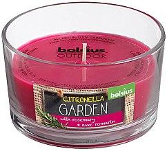 "Parfémy, Parfumerie, kosmetika Vonná svíčka ve sklenici ""Citronella Garden Rosemary"", 62/106mm - Bolsius Candle"