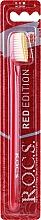 Parfémy, Parfumerie, kosmetika Zubní kartáček Red Edition, střední, červeno-žlutý - R.O.C.S.