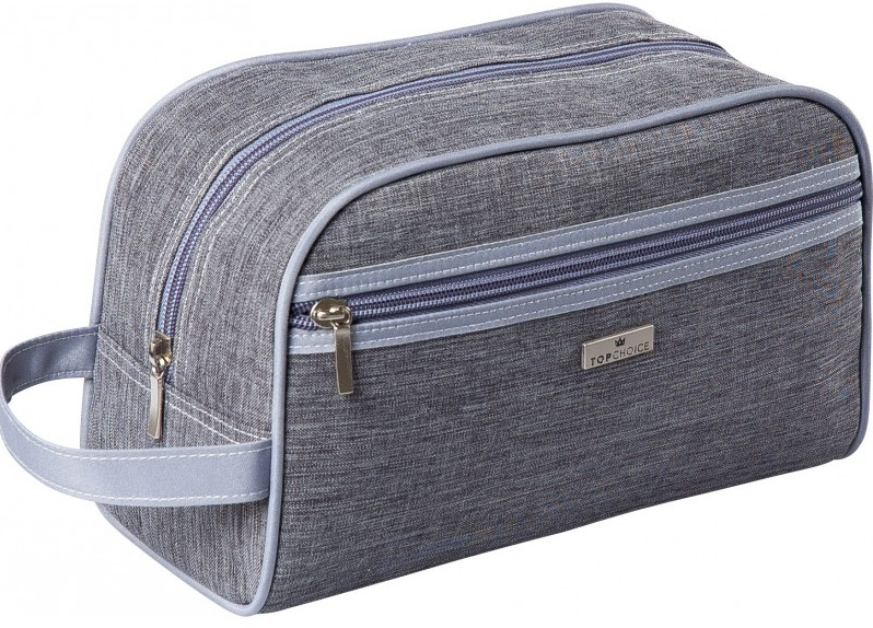 "Pánská kosmetická taška ""Travler"", 97805, šedá, Velikost: 26x15x9 cm - Top Choice"
