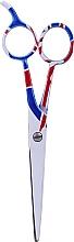 Parfémy, Parfumerie, kosmetika Kadeřnické nůžky na vlasy, 5.5sm - Ronney Professional White Flag London