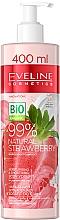 Parfémy, Parfumerie, kosmetika Hydratační a vyhlazující tělový jogurt - Eveline Cosmetics 99% Natural Strawberry