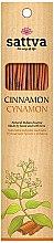 Parfémy, Parfumerie, kosmetika Vonné tyčinky Skořice - Sattva Cinnamon