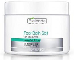 Parfémy, Parfumerie, kosmetika Sůl pro pedikúru s limetkou a mátou - Bielenda Professional Foot Bath Salt with Lime & Mint