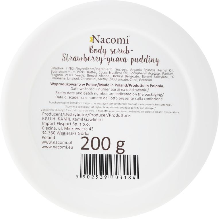 "Tělový peeling-scrub ""Strawberry Guava Pudding"" - Nacomi Body Scrub Strawberry-Guawa Pudding — foto N2"