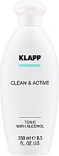 Parfémy, Parfumerie, kosmetika Pleťové tonikum - Klapp Clean & Active Tonic with Alcohol