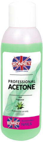 Prostředek pro odstraňování laku ''Aloe'' - Ronney Professional Acetone Aloe
