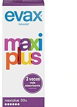 Parfémy, Parfumerie, kosmetika Dámské slipové vložky Maxi plus, 30 ks - Evax Salvaslip