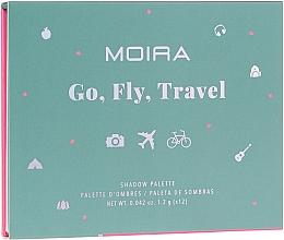Parfémy, Parfumerie, kosmetika Paletka očních stínů - Moira Happy Go, Fly, Travel Shadow Palette