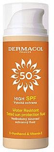 Voděodolný opalovací tónující fluid - Dermacol Sun Tinted Water Resistant Fluid SPF50
