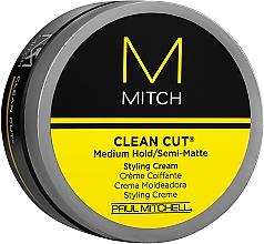 Parfémy, Parfumerie, kosmetika Polomatný stylingový krém střední fixace - Paul Mitchell Mitch Clean Cut Styling Cream