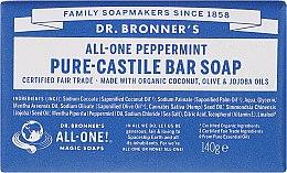 Parfémy, Parfumerie, kosmetika Mýdlo Máta - Dr. Bronner's Pure Castile Bar Soap Peppermint